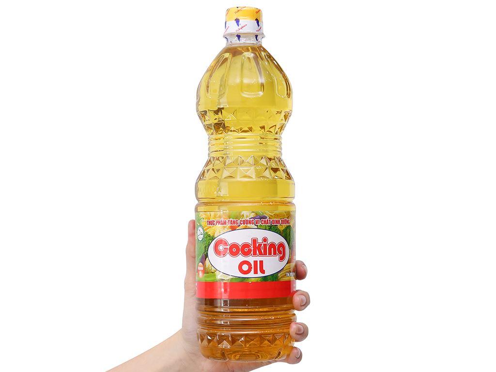 Dầu thực vật Nakydaco Cooking oil chai 1 lít 3