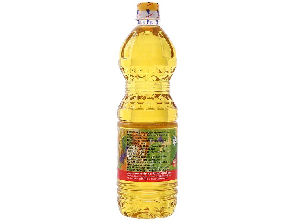 Dầu thực vật Nakydaco Cooking oil chai 1 lít 2