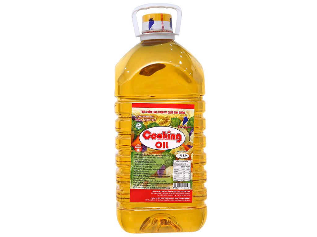 Dầu thực vật tinh luyện Cooking Oil Nakydaco bình 5 lít 1