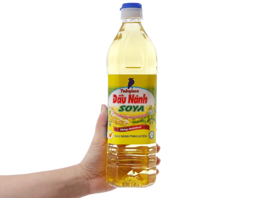 Dầu nành tinh luyện Nakydaco Soya chai 1 lít 3