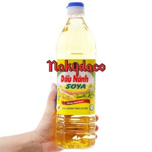 Dầu nành tinh luyện Soya Nakydaco chai 1 lít