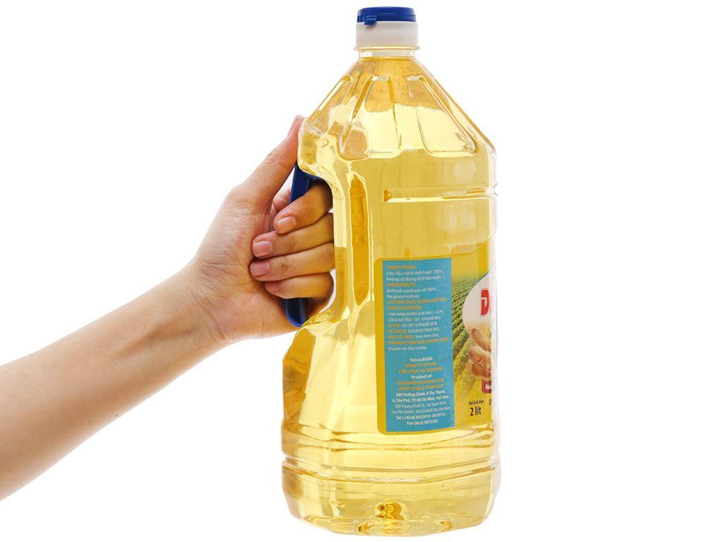 Dầu nành tinh luyện Nakydaco Soya chai 2 lít 3