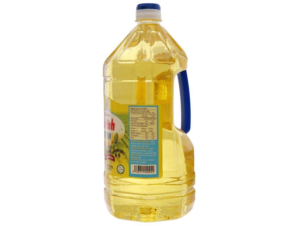 Dầu nành tinh luyện Nakydaco Soya chai 2 lít 2