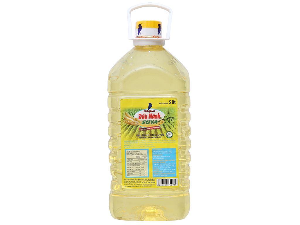 Dầu nành tinh luyện Soya Nakydaco bình 5 lít 1