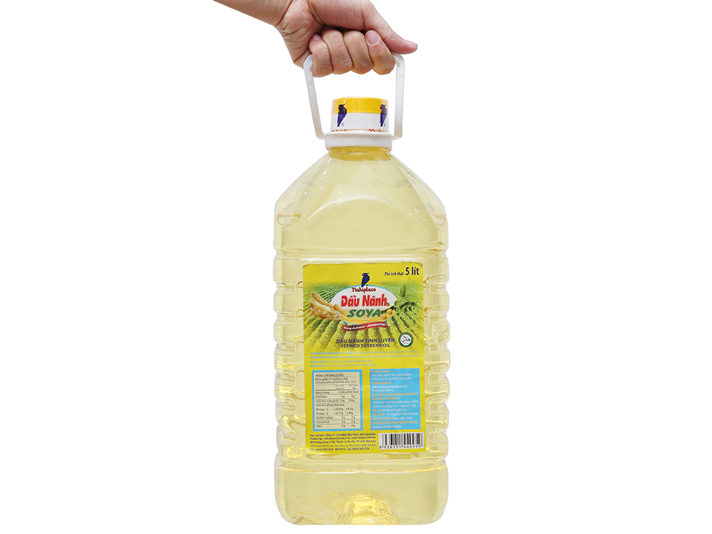 Dầu nành tinh luyện Soya Nakydaco bình 5 lít 3