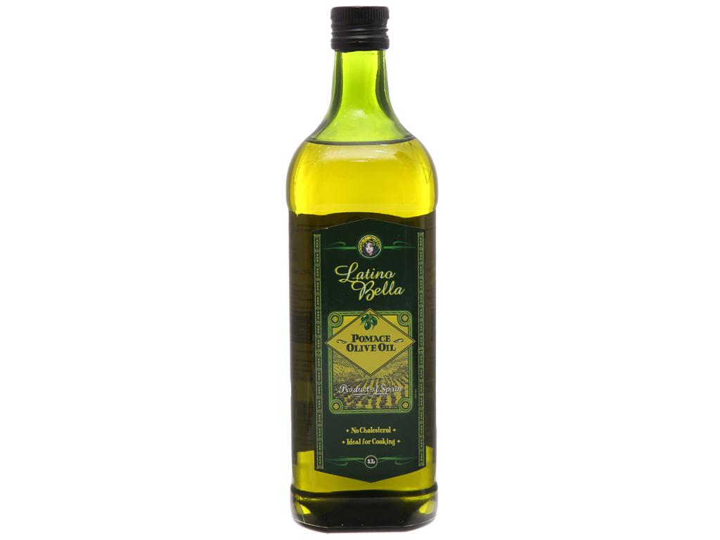 Dầu olive Pomace Latino Bella chai 1 lít 2