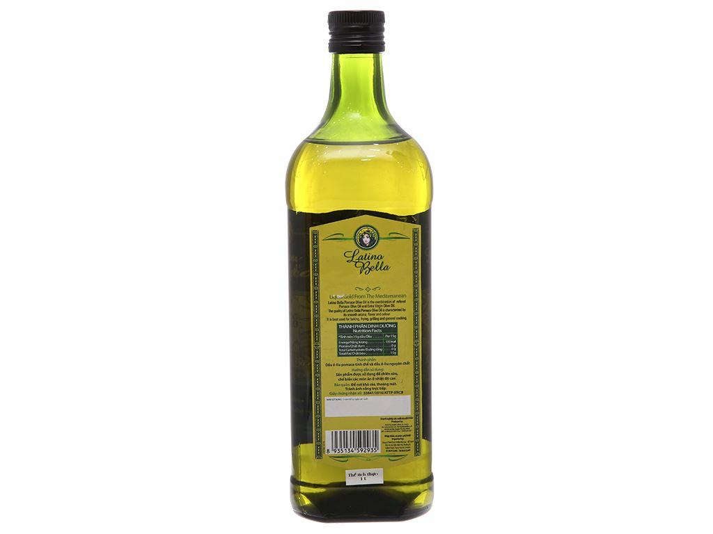 Dầu olive Pomace Latino Bella chai 1 lít 3