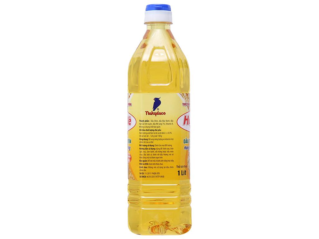 Dầu thực vật hương mè Nakydaco chai 1 lít 2