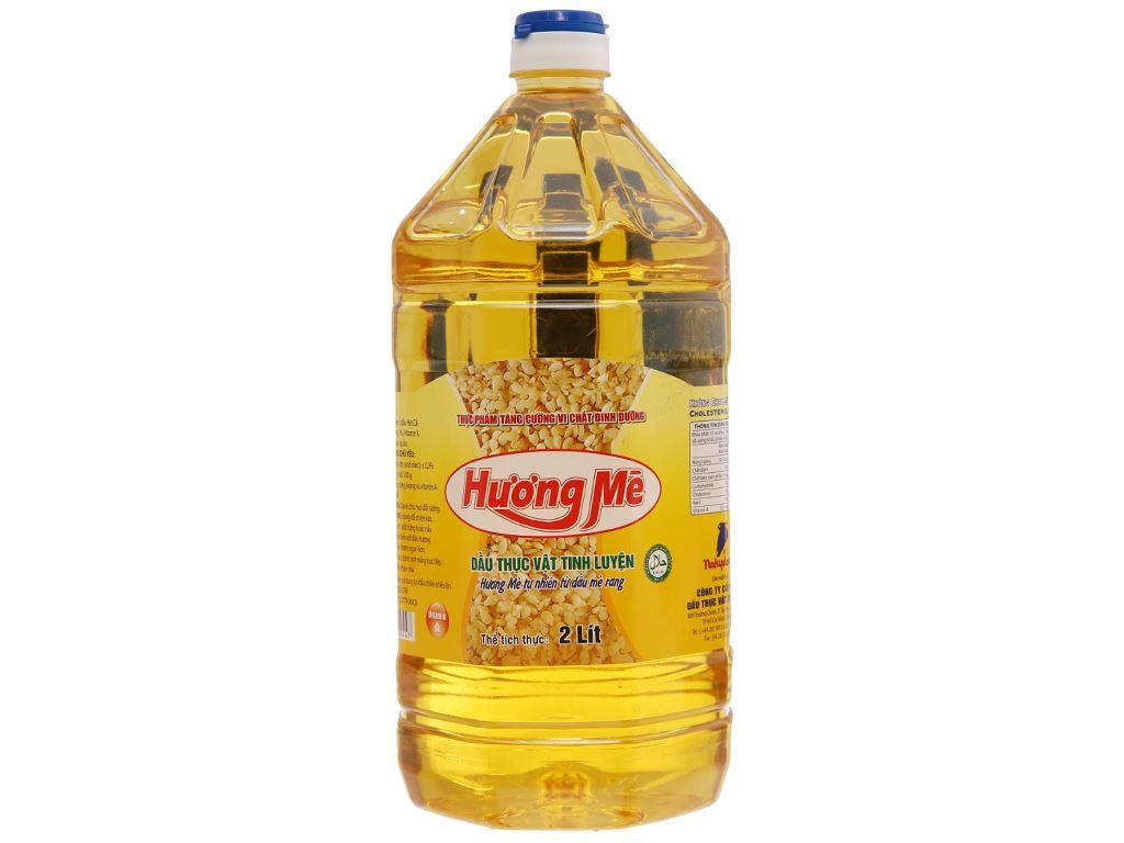 Dầu thực vật hương mè Nakydaco chai 2 lít 1