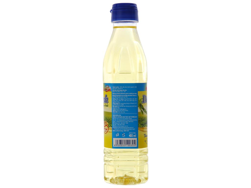 Dầu đậu nành nguyên chất 100% Tường An chai 400ml 2