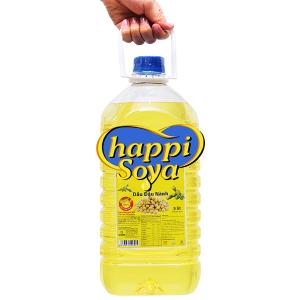 Dầu đậu nành Happi Soya bình 5 lít