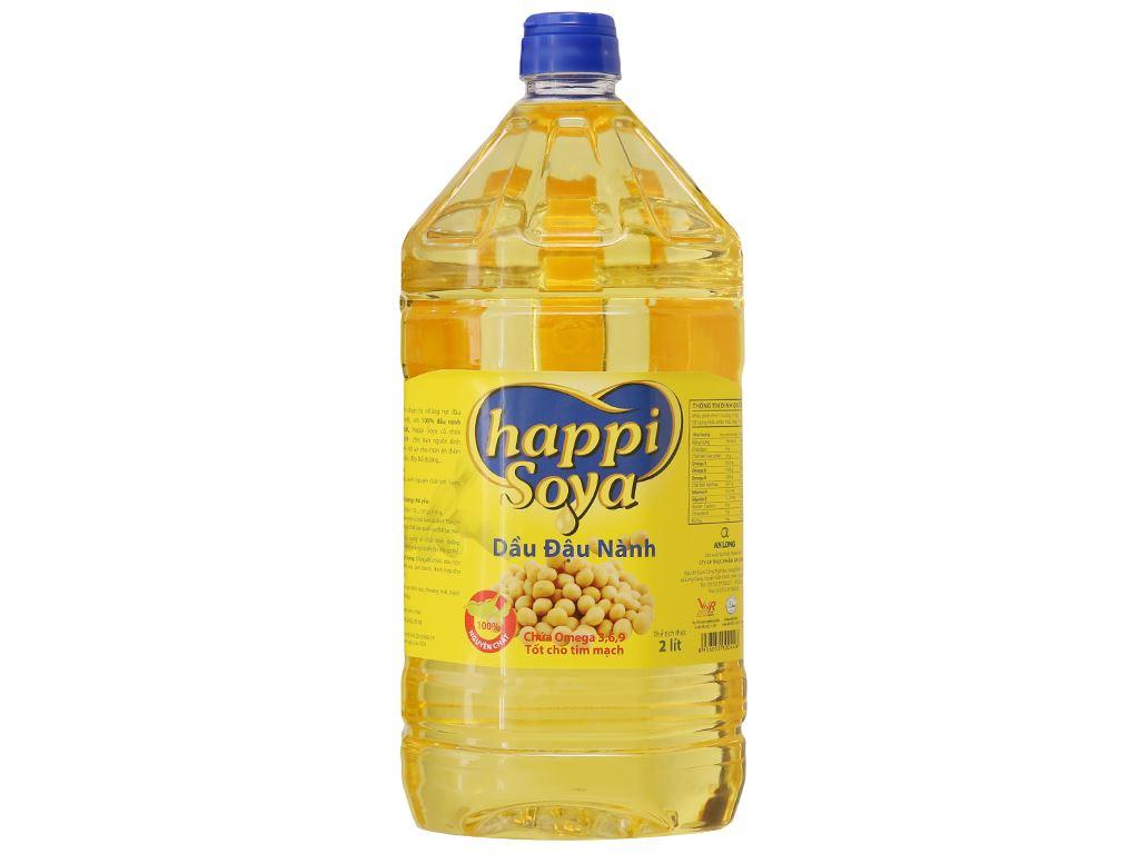 Dầu đậu nành Happi Soya chai 2 lít 1