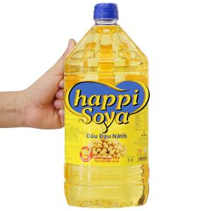 Dầu đậu nành Happi Soya chai 2 lít