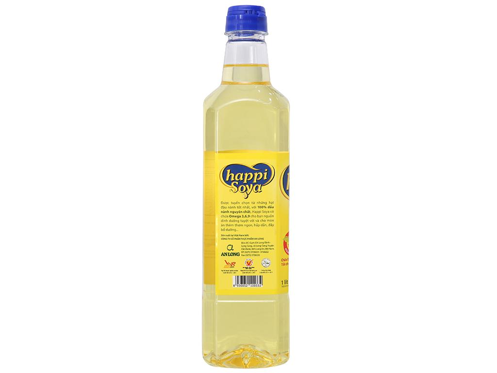 Dầu đậu nành Happi Soya chai 1 lít 2