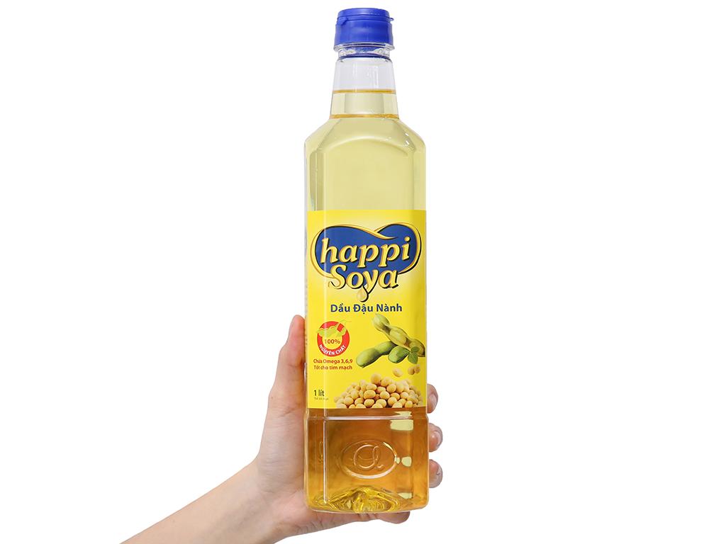 Dầu đậu nành Happi Soya chai 1 lít 3