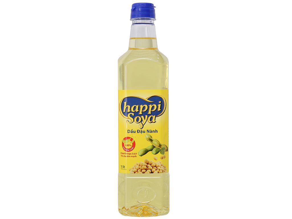 Dầu đậu nành Happi Soya chai 1 lít 1