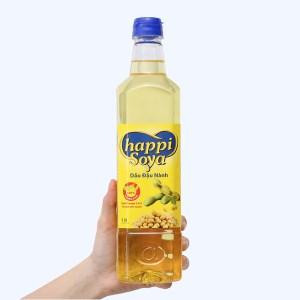 Dầu đậu nành Happi Soya chai 1 lít