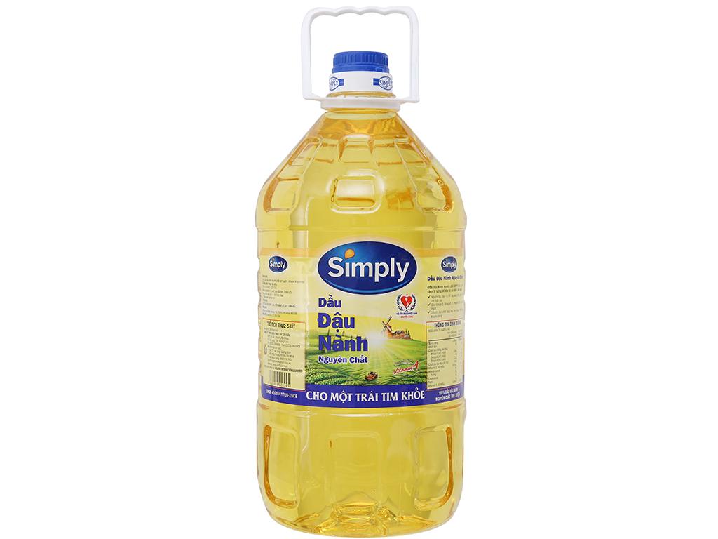 Dầu đậu nành nguyên chất Simply can 5 lít 1
