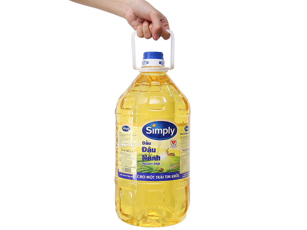 Dầu đậu nành nguyên chất Simply can 5 lít 4