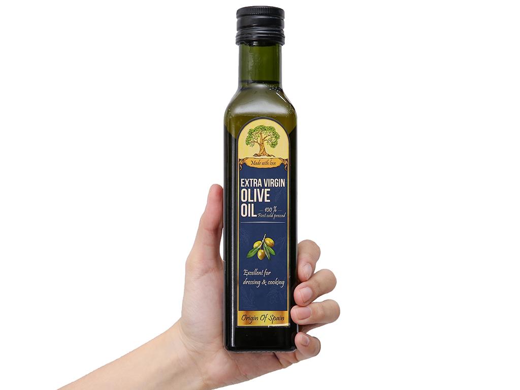 Dầu olive Extra Virgin Tường An chai 250ml 3