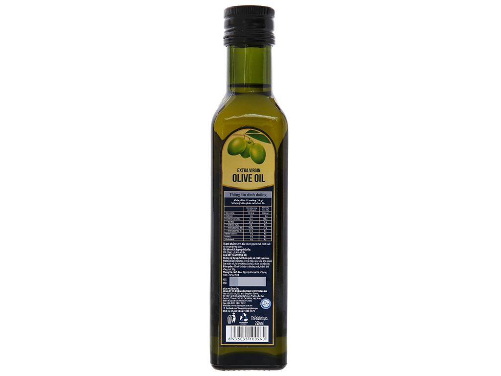 Dầu olive Extra Virgin Tường An chai 250ml 2