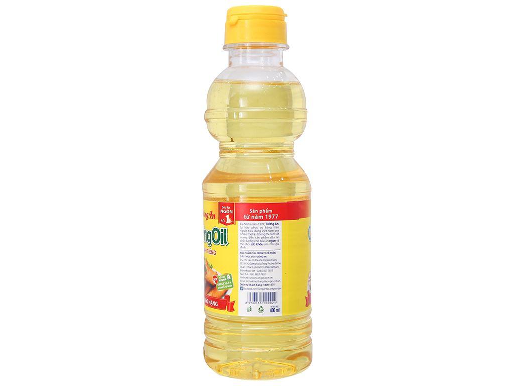 Dầu thực vật Tường An Cooking oil chai 400ml 2
