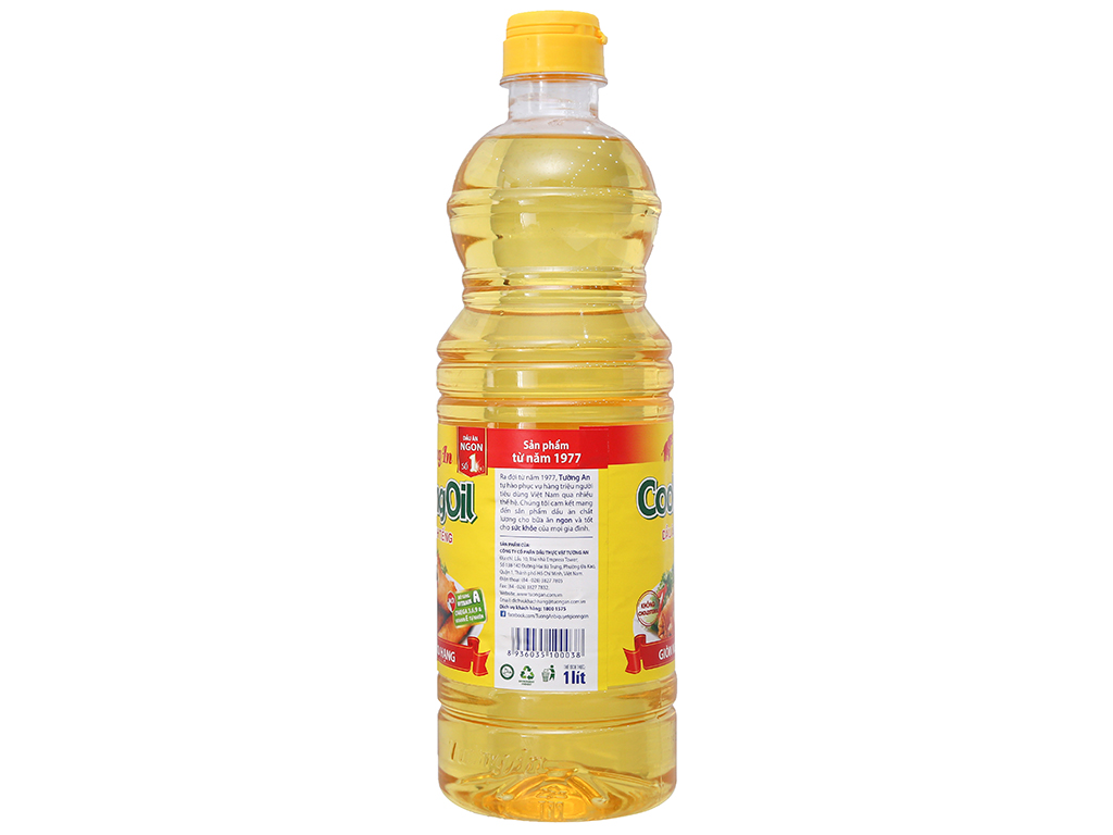 Dầu thực vật Tường An Cooking oil chai 1 lít 5