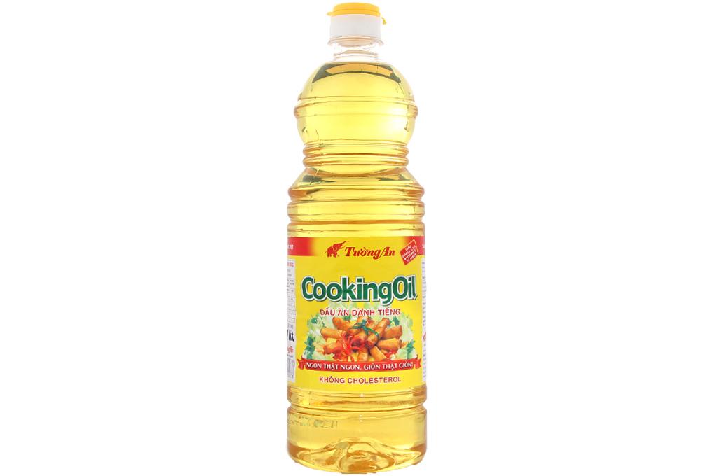 Dầu ăn Tường An Cooking Oil nhãn đỏ 1 lít
