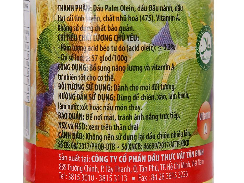 Dầu thực vật Cooking Oil Nakydaco chai 400ml 4