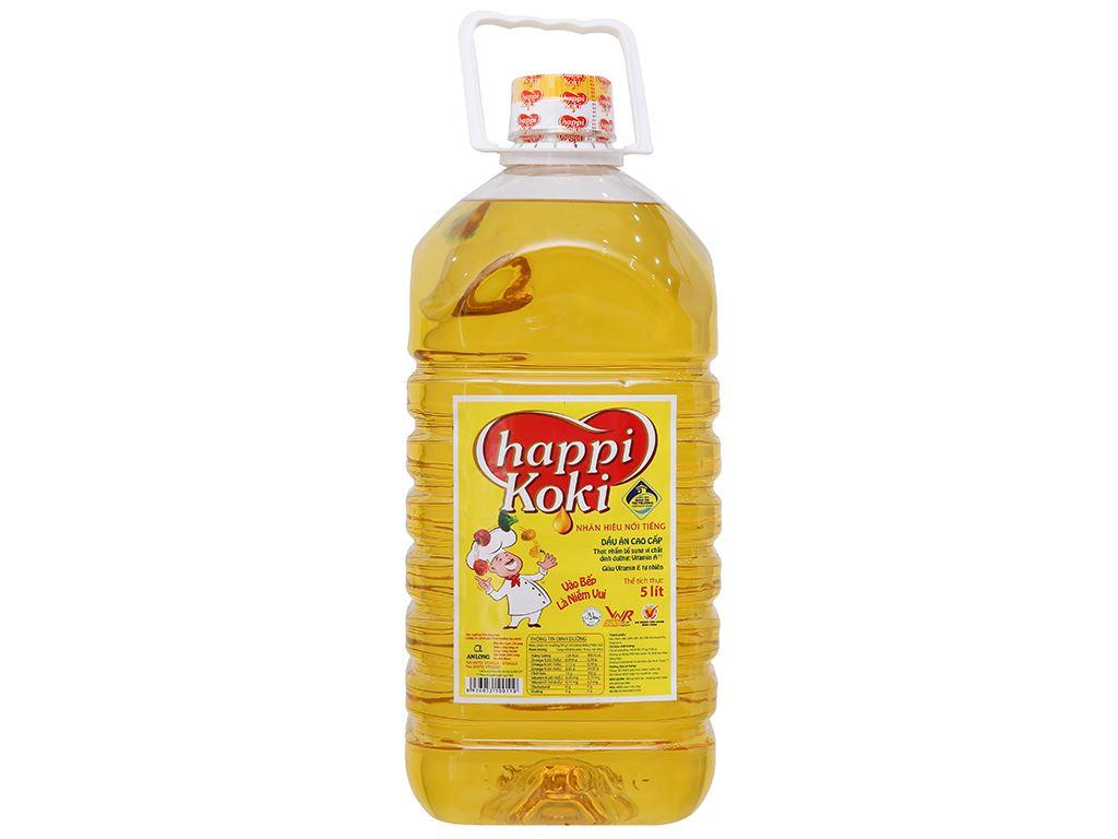 Dầu ăn cao cấp Happy Koki bình 5 lít 1