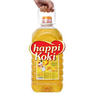 Dầu ăn cao cấp Happy Koki bình 5 lít