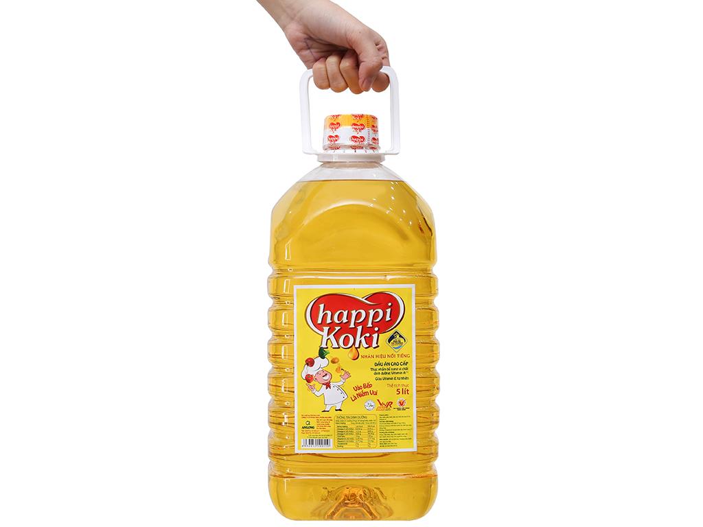 Dầu ăn cao cấp Happy Koki bình 5 lít 3