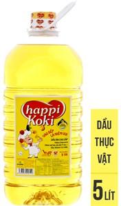 Dầu ăn Happy Koki chai 5lít
