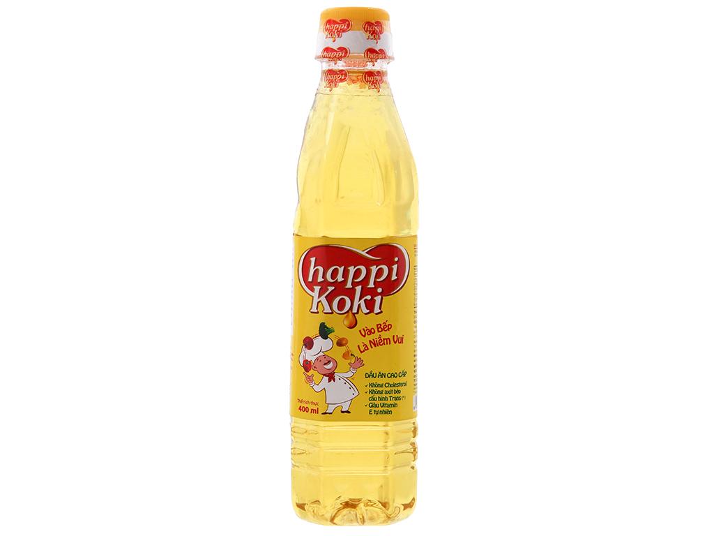 Dầu ăn cao cấp Happi Koki chai 400ml 1