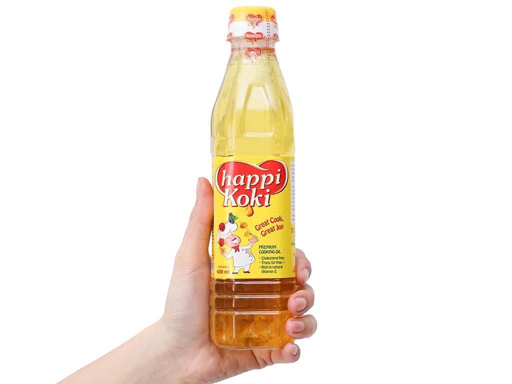 Dầu ăn cao cấp Happi Koki chai 400ml 3