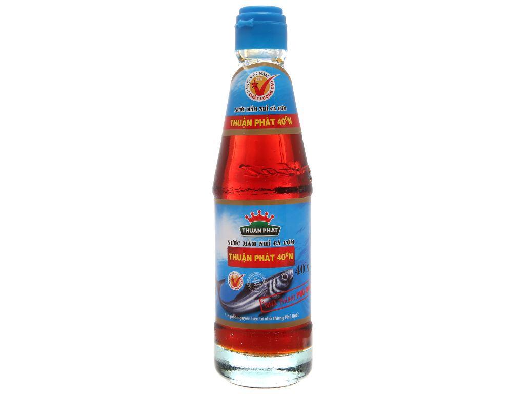 Nước mắm nhỉ cá cơm Thuận Phát 40 độ đạm chai 250ml 1