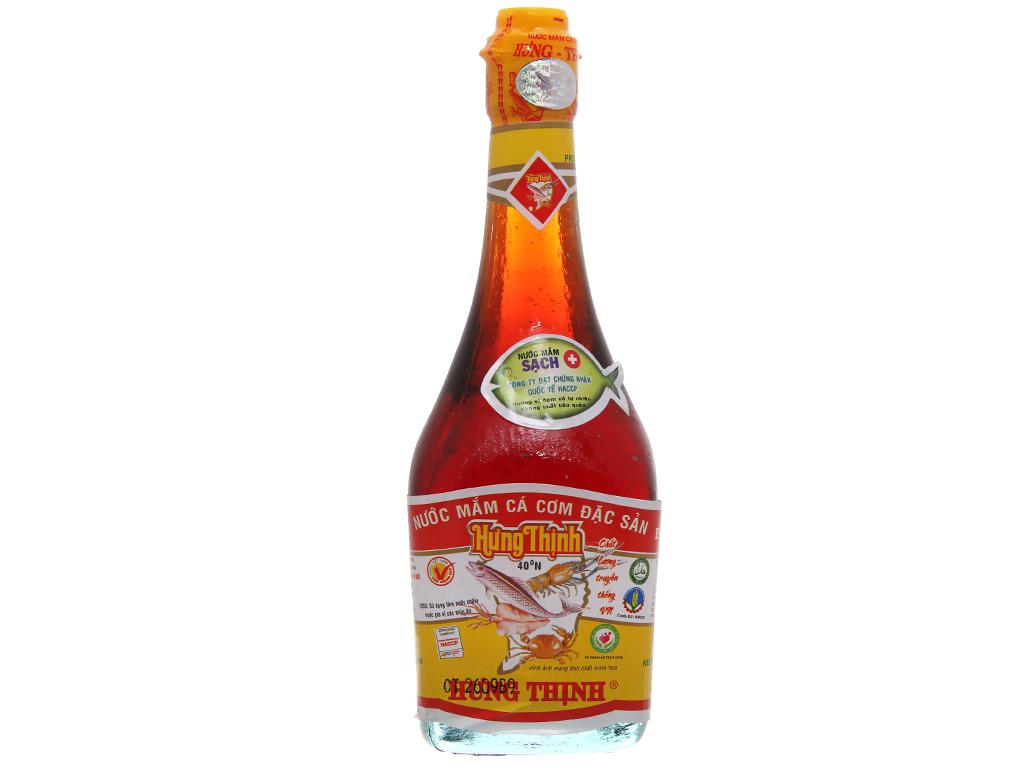 Nước mắm Hưng Thịnh đặc sản 40 độ đạm chai 220ml 2