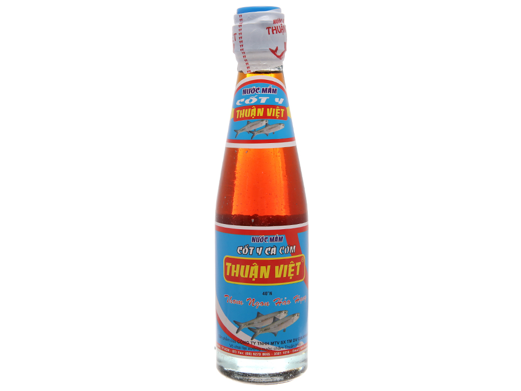 Nước mắm cốt y cá cơm Thuận Việt 40 độ đạm chai 200ml 2