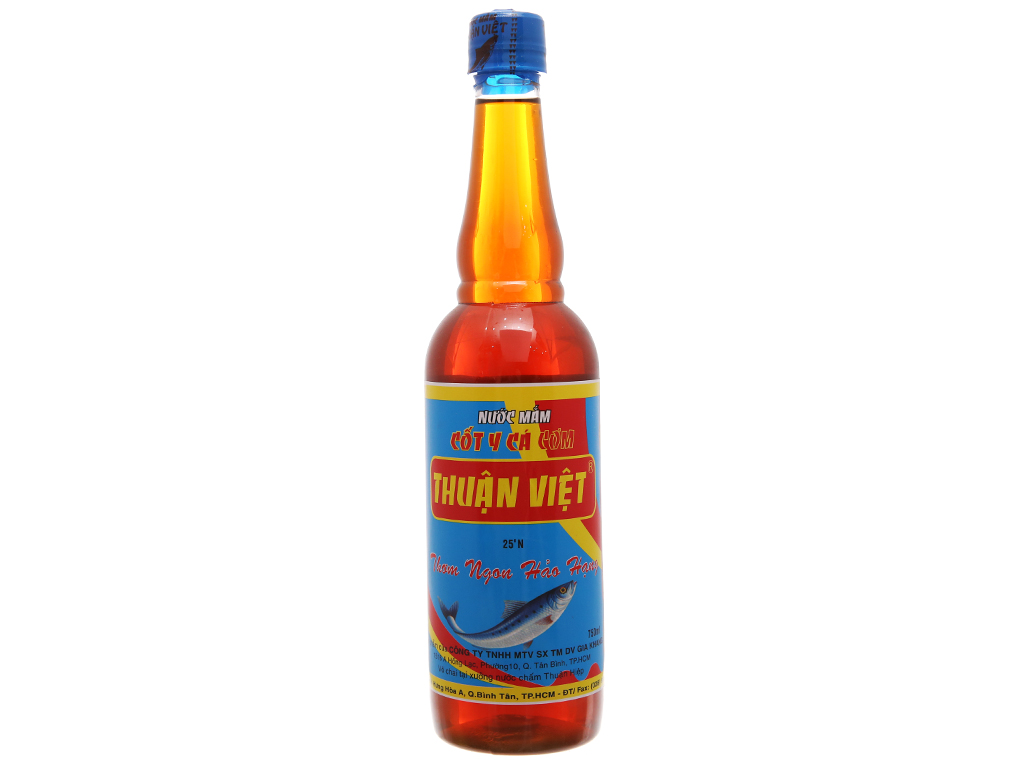 Nước mắm cốt y cá cơm Thuận Việt 25 độ đạm chai 750ml 1