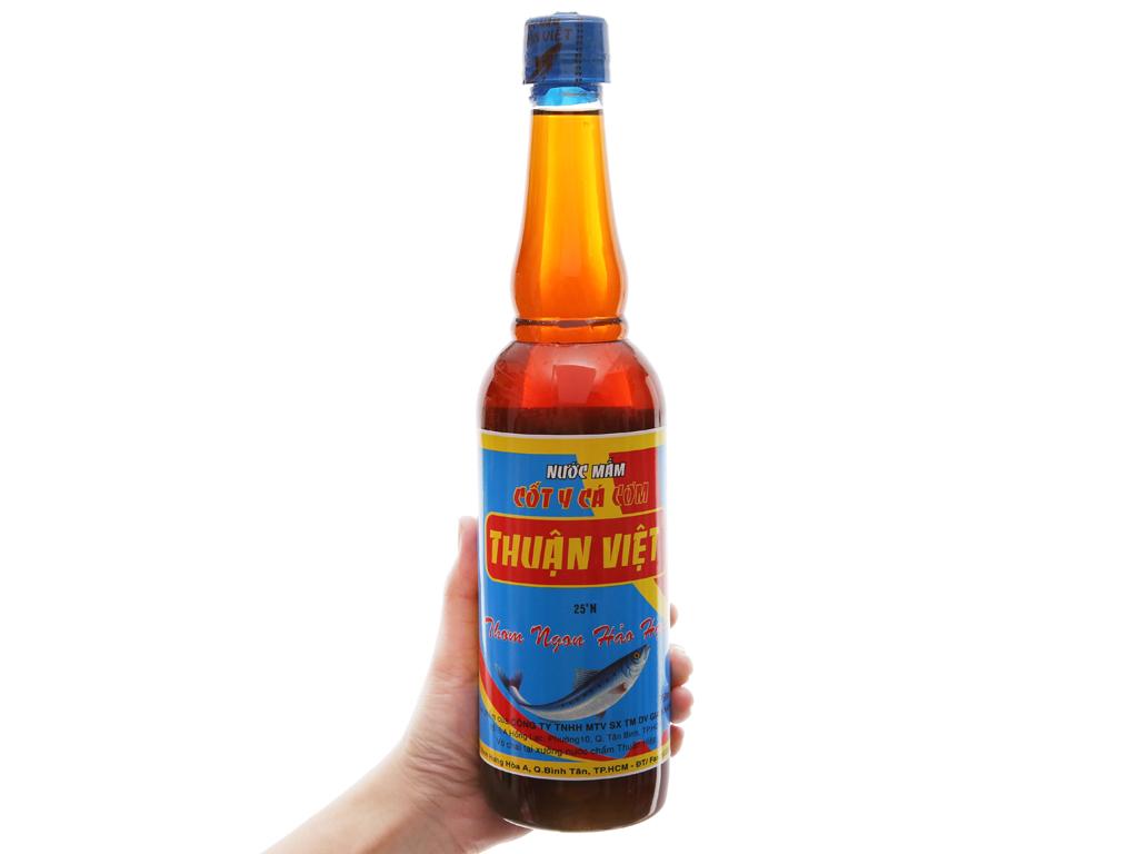 Nước mắm cốt y cá cơm Thuận Việt 25 độ đạm chai 750ml 3