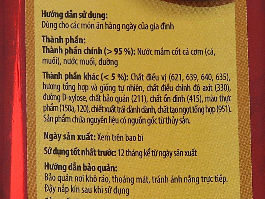 Nước mắm Nam Ngư nhãn vàng chai 650ml 3