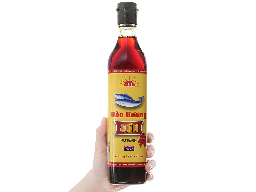 Nước mắm nhĩ Hảo Hương 40 độ đạm chai 500ml 3