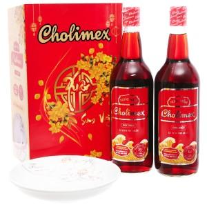 Hộp quà Tết nước mắm Cholimex 35 độ đạm 2 chai 750ml