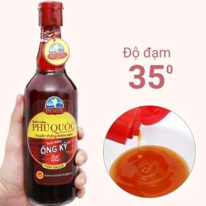 Nước mắm Phú Quốc Ông Kỳ 35 độ đạm chai 525ml