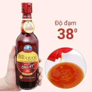 Nước mắm Phú Quốc Ông Kỳ 38 độ đạm chai 525ml