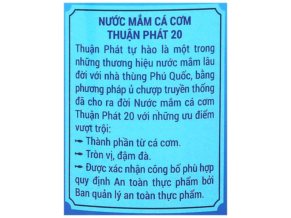 Nước mắm cá cơm Thuận Phát 20 độ đạm chai 500ml 4