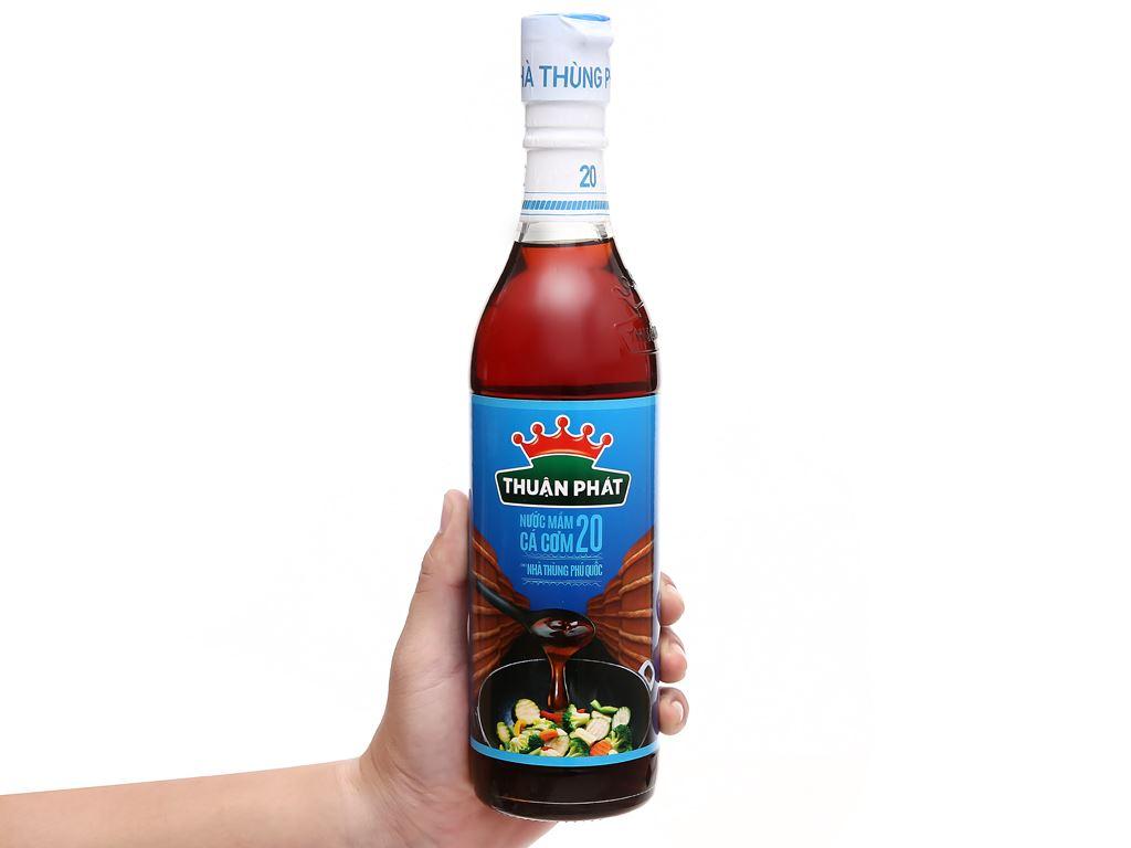 Nước mắm cá cơm Thuận Phát 20 độ đạm chai 500ml 5