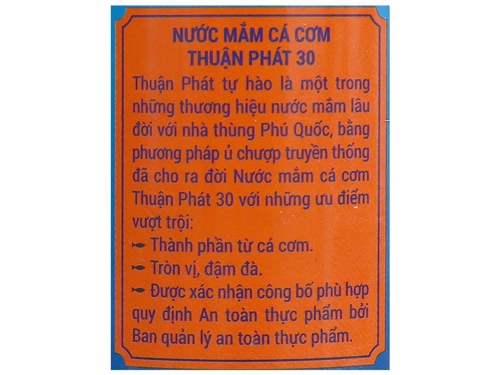 Nước mắm cá cơm Thuận Phát 30 độ đạm chai 620ml 4