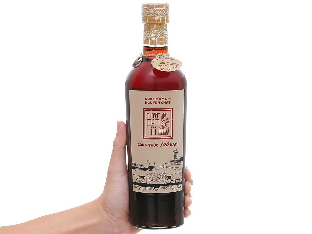 Nước mắm Rin nguyên chất Tĩn 40 độ đạm chai 500ml 4