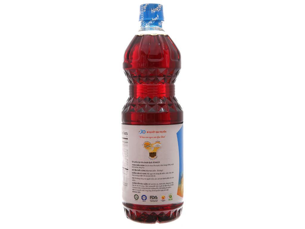 Nước mắm cá cơm siêu hạng Hồng Hạnh 35 độ đạm chai 1 lít 2